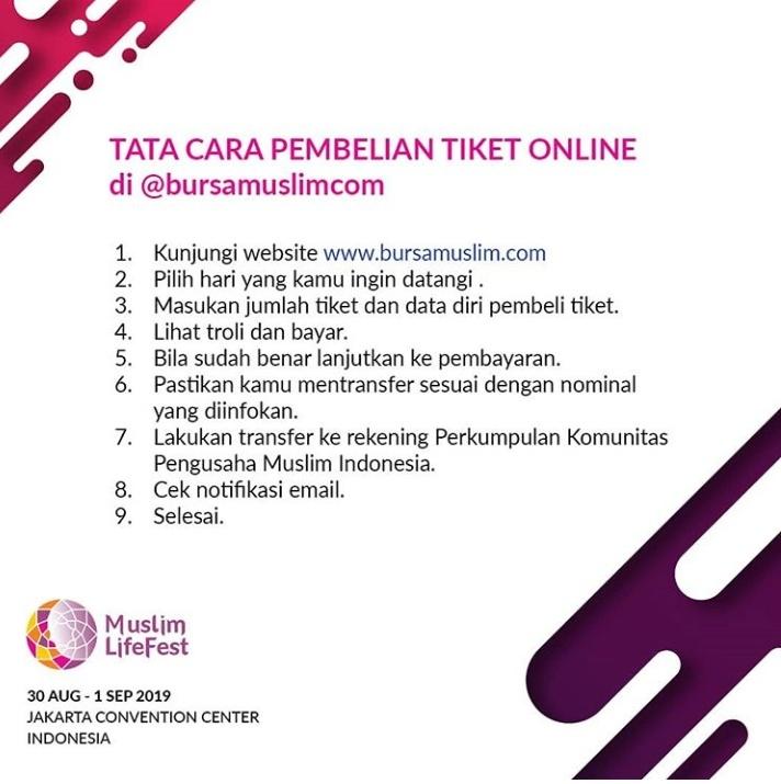 Membeli tiket online Indonesia Muslim Lifestyle Festival Event