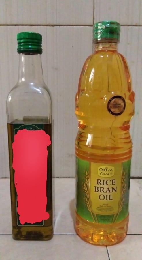 Beda minyak bekatul dan minyak zaitun