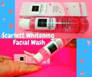 scarlett whitening facial wash